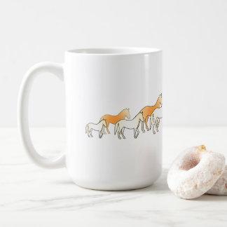 Group horses. coffee mug
