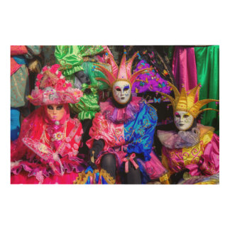 Group In Carnival Costume, Venice Wood Wall Decor