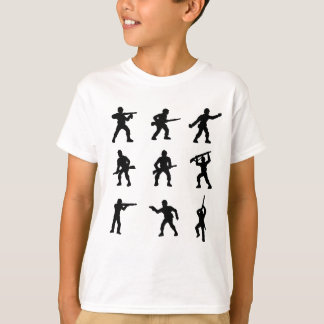 Group of Army Men T-Shirt in Black