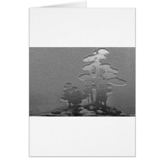 Group of Bonsai Trees in Metallic Gray Card