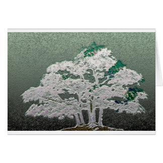 Group of Bonsai Trees in Metallic Green Card