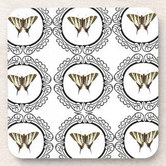 group of butterflies coaster