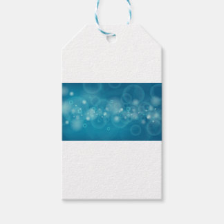Group of cute bubbles flowing in blue background gift tags