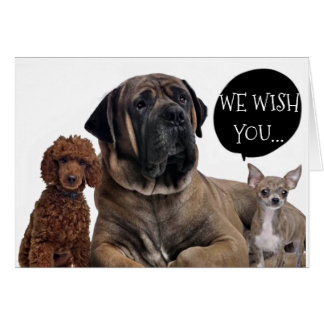 GROUP OF DOGS WISHES RETIREMENT OF YOUR DREAMS CARD
