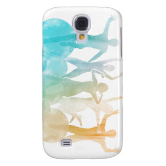 Group of Friends Jumping for Joy in Watercolor Samsung Galaxy S4 Cover