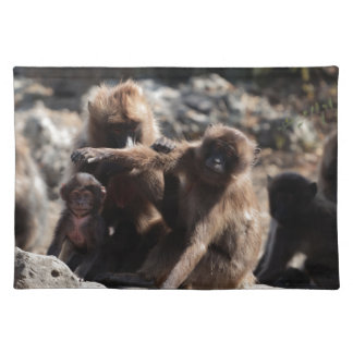 Group of gelada baboons (Theropithecus gelada) Placemat