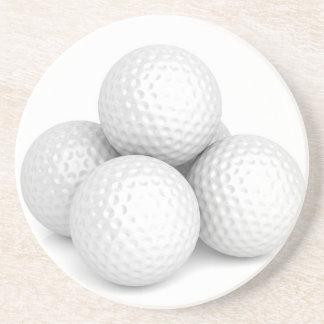 Group of golf balls coaster