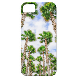 Group of high straight palm trees barely there iPhone 5 case