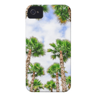 Group of high straight palm trees iPhone 4 Case-Mate case