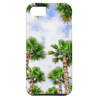 Group of high straight palm trees iPhone 5 cover