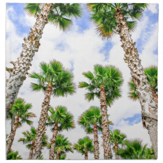 Group of high straight palm trees napkin