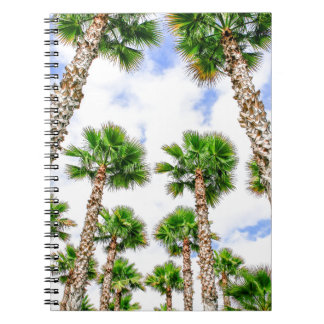 Group of high straight palm trees notebook