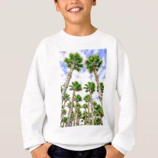 Group of high straight palm trees sweatshirt
