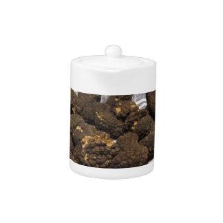 Group of italian expensive black truffles