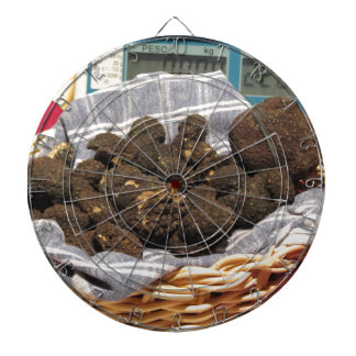 Group of italian expensive black truffles dartboard