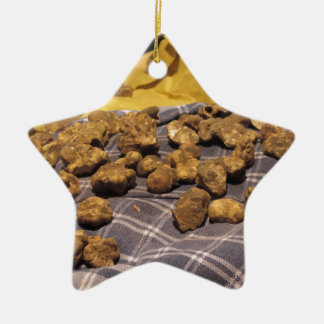 Group of italian expensive white truffles ceramic ornament