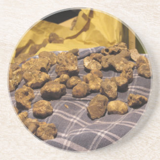 Group of italian expensive white truffles coaster