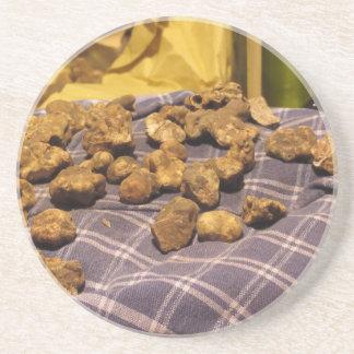 Group of italian expensive white truffles coaster