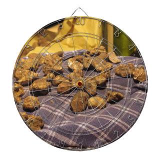 Group of italian expensive white truffles dartboard