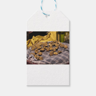 Group of italian expensive white truffles gift tags