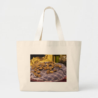 Group of italian expensive white truffles large tote bag