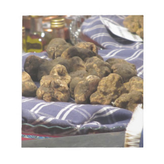 Group of italian expensive white truffles notepad