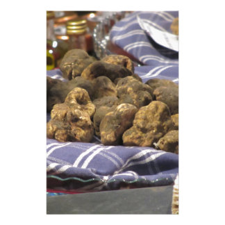 Group of italian expensive white truffles stationery