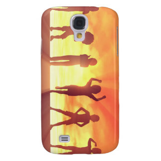 Group of Kids Having Fun as a Abstract Background Galaxy S4 Cover