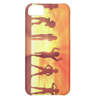 Group of Kids Having Fun as a Abstract Background iPhone 5C Case