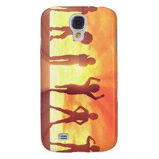 Group of Kids Having Fun as a Abstract Background Samsung Galaxy S4 Case