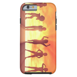 Group of Kids Having Fun as a Abstract Background Tough iPhone 6 Case