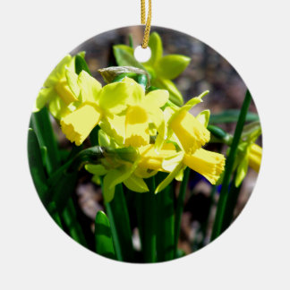Group of Little Yellow Daffodils Ceramic Ornament