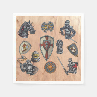 Group of Medieval Items Disposable Napkins