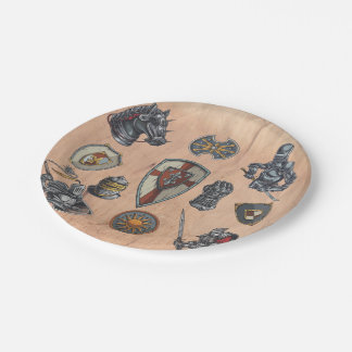 Group of Medieval Items Paper Plate