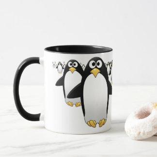 Group of Penquins on a coffee mug