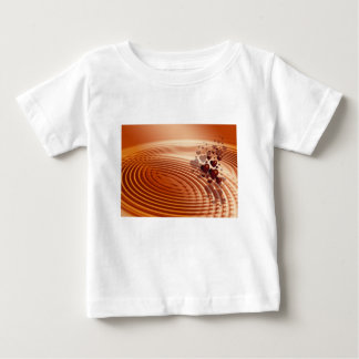Group of red hearts flowing into the vibrations baby T-Shirt