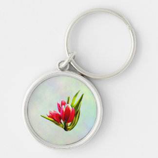Group of Red Tulips Key Ring