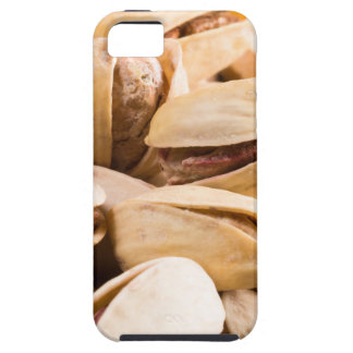 Group of salted pistachios in a small wooden box tough iPhone 5 case