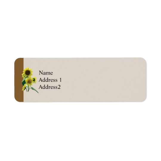 Group of Sunflowers Save the Date Return Address Label