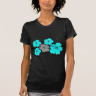 Group of Teal Hibiscus T-Shirt