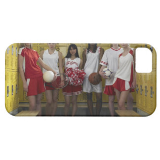 Group of teenage girls (15-17) standing in iPhone 5 cases
