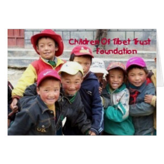 GROUP OF TIBETAN BOYS6 GREETING CARD