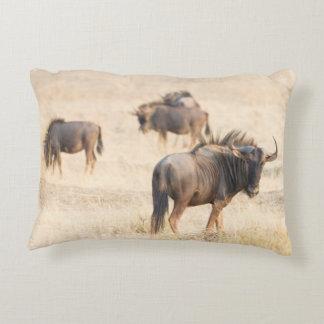 Group of wildebeest decorative cushion