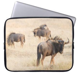 Group of wildebeest laptop sleeve