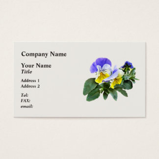 Group Of Yellow And Purple Pansies Business Card