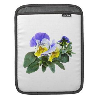 Group Of Yellow And Purple Pansies iPad Sleeve