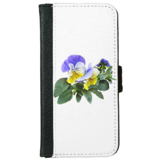 Group Of Yellow And Purple Pansies iPhone 6 Wallet Case