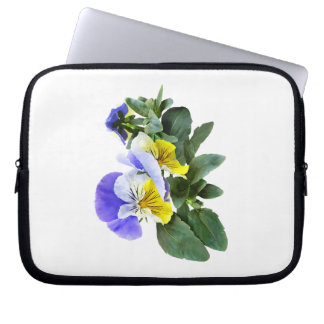Group Of Yellow And Purple Pansies Laptop Sleeve