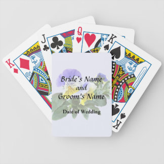 Group Of Yellow And Purple Pansies Wedding Product Bicycle Playing Cards