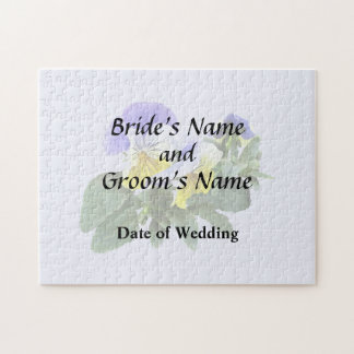 Group Of Yellow And Purple Pansies Wedding Product Jigsaw Puzzle